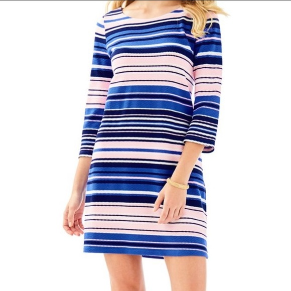 Lilly Pulitzer Dresses & Skirts - Lilly Pulitzer Bay Dress Striped Boatneck Knit